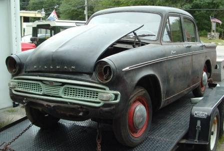 Hillman Minx Car Parts